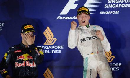 Rosberg trepó a la punta en Singapur