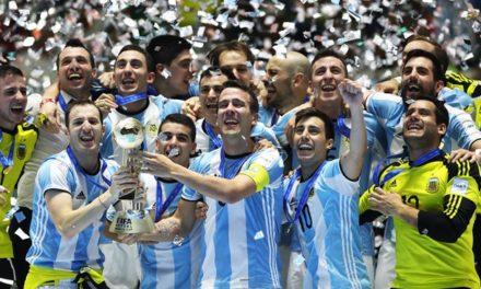 Argentina en lo más alto del futsal