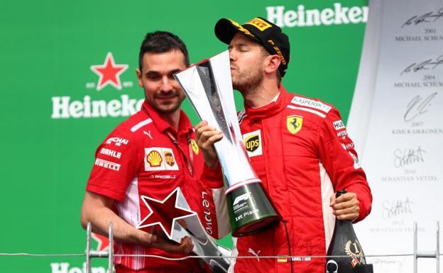 Vettel retoma el liderazgo