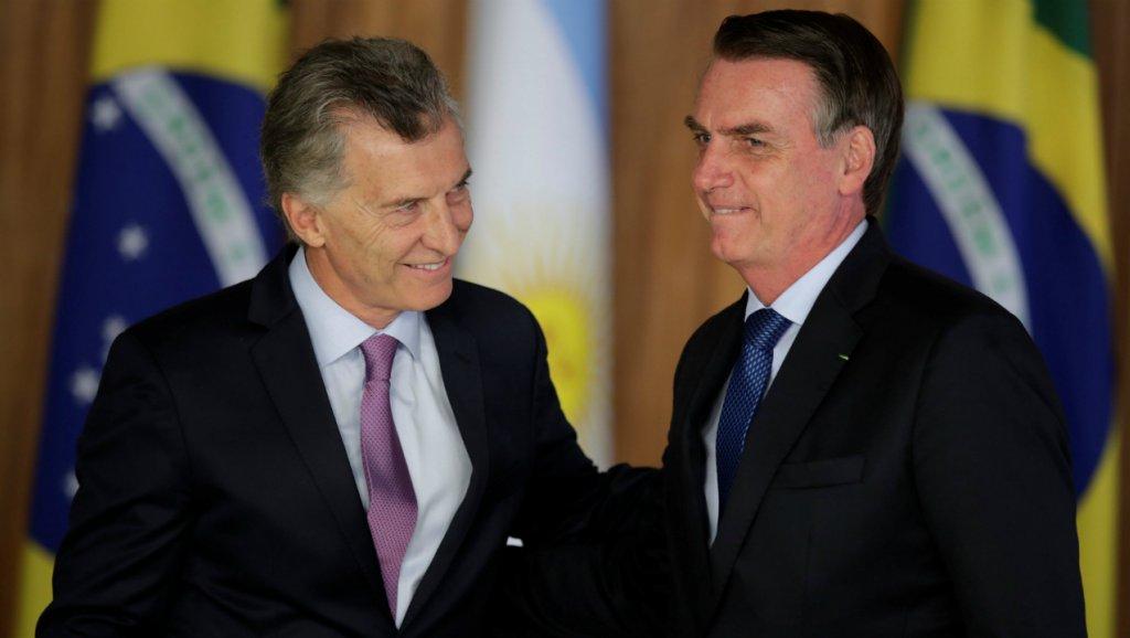 Macri y Bolsonaro de la mano