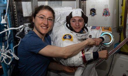 Mujer récord en el espacio