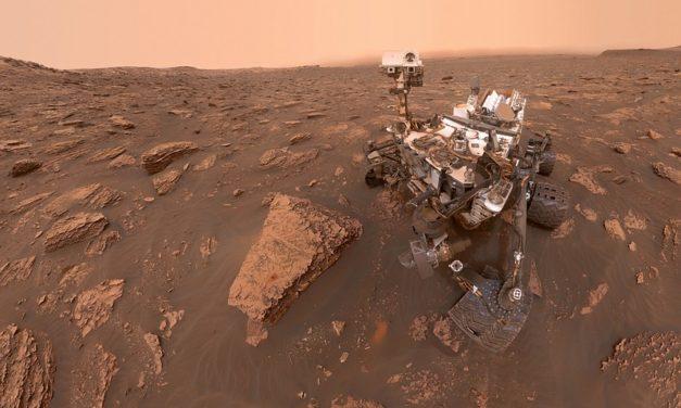 Selfie en Marte